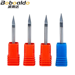 1pc 3A Top quality 3.175mm Flat Bottom Metal Engraving Bits Carving Cutter Titanium Coating CNC Router Tools for Metal