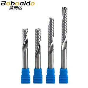 1pc 8mm Single Flute Spiral Cutter 3A TOP Qualit CNC Router Bits Wood Acrylic PVC MDF End Mill Carbide Milling Cutters