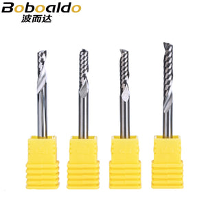 5PC/set 4mm one Flute Spiral Cutter router bit CNC end mill For MDF carbide milling cutter tugster steel router bits for wood
