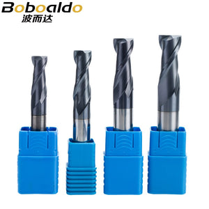 1PC 2 flutes Solid Carbide End Mill CNC Milling Cutter HRC45 Tungsten steel TiAIN Coat router bits for CNC machine