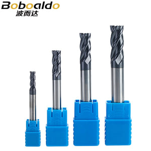 1PC 4 flutes Solid Carbide End Mill CNC Milling Cutter HRC45 Tungsten steel TiAIN Coating router bits for CNC machine