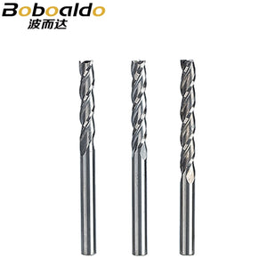5pc/set 3.175mm 3 Flute Spiral Cutter Router Bits For Wood CNC End Mill Carbide Milling Cutter Tugster Steel Cutter