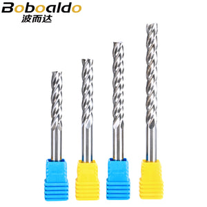 1PC 6mm 4 Flute Spiral End Mill straight shank milling cutter CNC Router Bits For Wood Tungsten Carbide Milling tool
