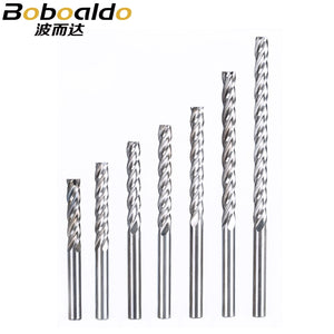 1PC 4mm 4 Flute Spiral End Mill straight milling cutter CNC Router Bits For Wood Tungsten Carbide Milling router tool