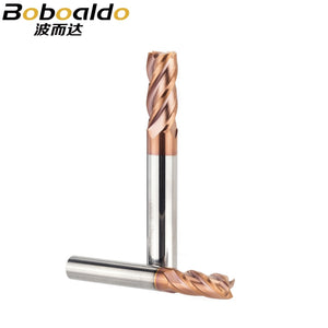 Tungsten Steel Spiral Angle 35 Deg Milling Cutter Alloy Coating Router Bits HRC50 CNC Tool 4 Flutes End Mill For Metal