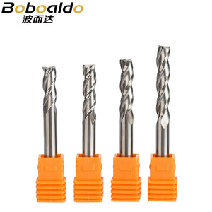 2pc/set 6mm 3 Flute Spiral Cutter Router Bits For Wood CNC End Mill Carbide Milling Cutter Tugster Steel Wood Milling Cutter