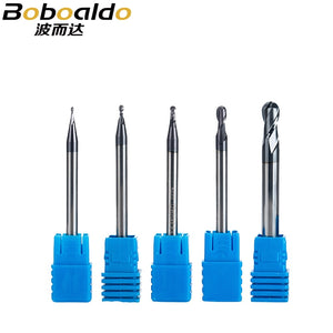 1pc 2 flutes Ball Nose Solid Carbide End mills CNC Milling Cutter HRC45 R0.5 0.75 1 1.75 3 5mm cnc tools milling cutter
