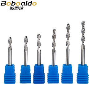 1pc 6mm ball nose end mills 2 Flute Spiral CNC router bits for wood tungsten carbide milling 3A Top quality route tool
