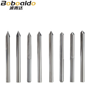10PC/set 3.175mm 2 Flutes Straight Engraving Bits deep cutter For wood hardwood CNC Carving Bits Carving machine tools end mill