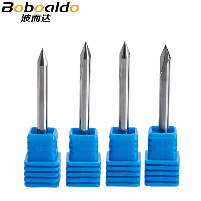 5PC/set 4mm 2 Flutes Straight Engraving Bits deep cutter For wood hardwood CNC Carving V Bits Carving machine tools end mill