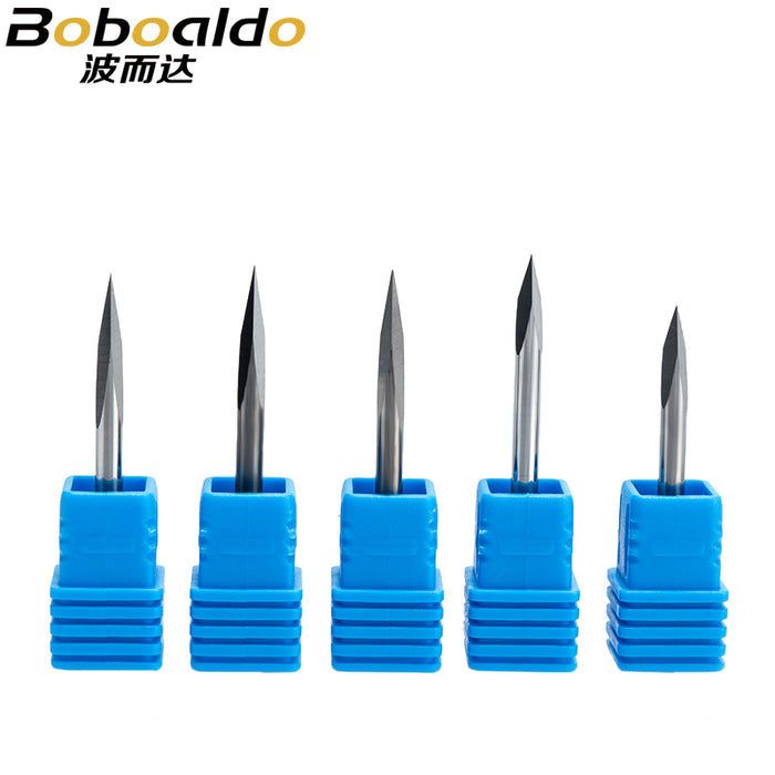 5pc/set 3.175mm 3 Edge Carbide Pypamid bits 2A Good QUALITY CNC Engraving Bits Router Machine 3 face Stone Carving Tools