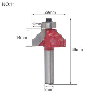 "8mm Traditional Ogee Edge Forming Router Bit - 8"" Shank Woodworking Knife Line For Wood"