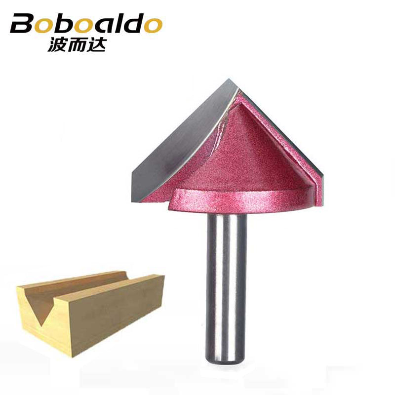 8mm Shank V Groove Bit CNC Solid Carbide End Mill 3D Router Bits Wood 60 90 120 150 Degree Tungsten Woodworking Milling Cutter
