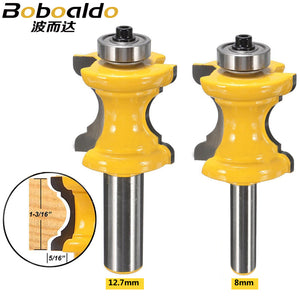8mm 12.7mm Shank Bullnose Bead Column Face Molding Router Bit For Woodworking Tools Concave Radius Milling Cutter