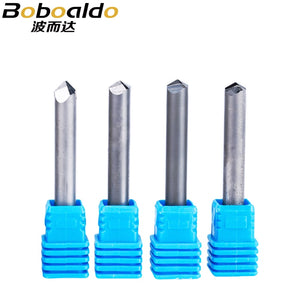 1pc 6mm 6 edge 70 90 120 Degree CNC Router End Mill Diamond PCD cutter Tools Stone Hard Granite Cutting Engraving Bits