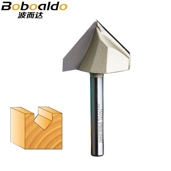 1pcs 6mmTwo Flutes V-Groove And Engraving CutterV-Groove And Engraving Cutter Woodworking Tools Arden Router Bit