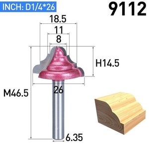 Carving Bit Wood Cutter Double Edging Router Bits For Wood Industrial Grade Woodworking Engraving Chamfer Trimming Bit