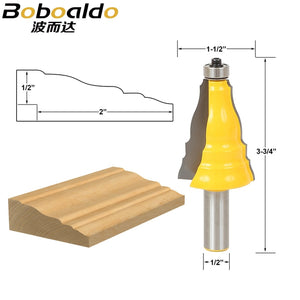 "1pcs Door & Window Casing Router Bit - 1/2"" Shank"