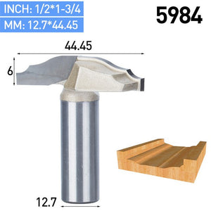 1pc 1/2 Shank Trimmer Router Bits For Wood Tungsten Carbide Cupboard Door Flowers Phoenix Knife Core Endmill Tools
