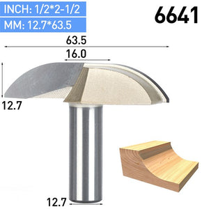 "1pc 1/2"" Shank CNC Woodworking Tools Door Crescent Knife For Wood Carbide Engraving Milling Cutter For MDF Hard Wood"