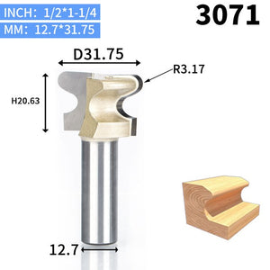 1pcs 1/2 Shank Router Bits for wood double finger bit Woodworking Tools two Flute endmill milling cutter wood cutting