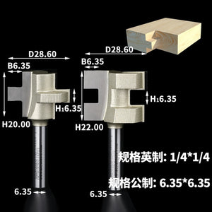 2PCS/SET 1/4 1/2 Shank Glue Joint Bit Set Joint ECONOMY TONGUE GROOVE ASSEMBLY Tongue Groove Sets Arden Router Bit