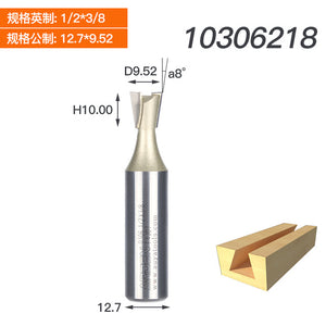 1PCS 1/4 1/2 Shank Two Flutes Professional Dovetail Cutter Without Spur Dovetail Joints Wood Machine Arden Router Bit