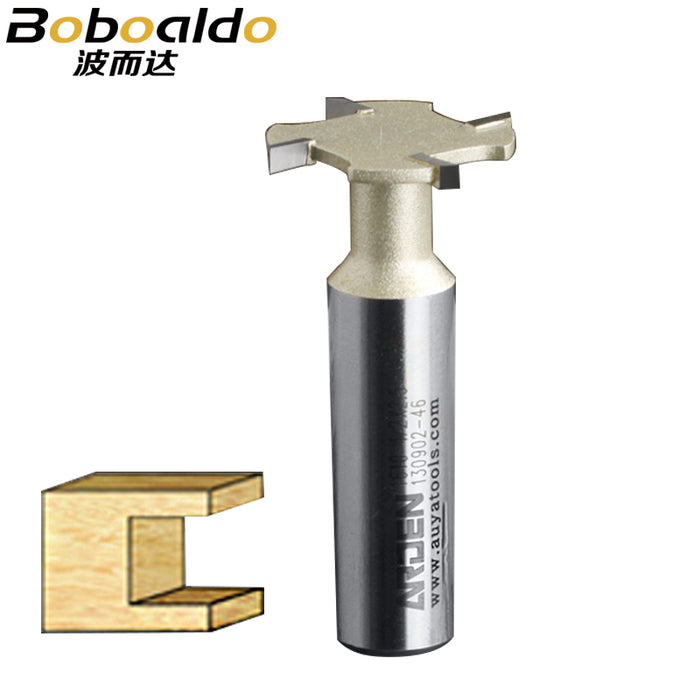 1PCS 1/4 1/2 4-Wings Slotting Cutters Arden Router Bit T Slot slotting cutter woodworking tool router bits for wood