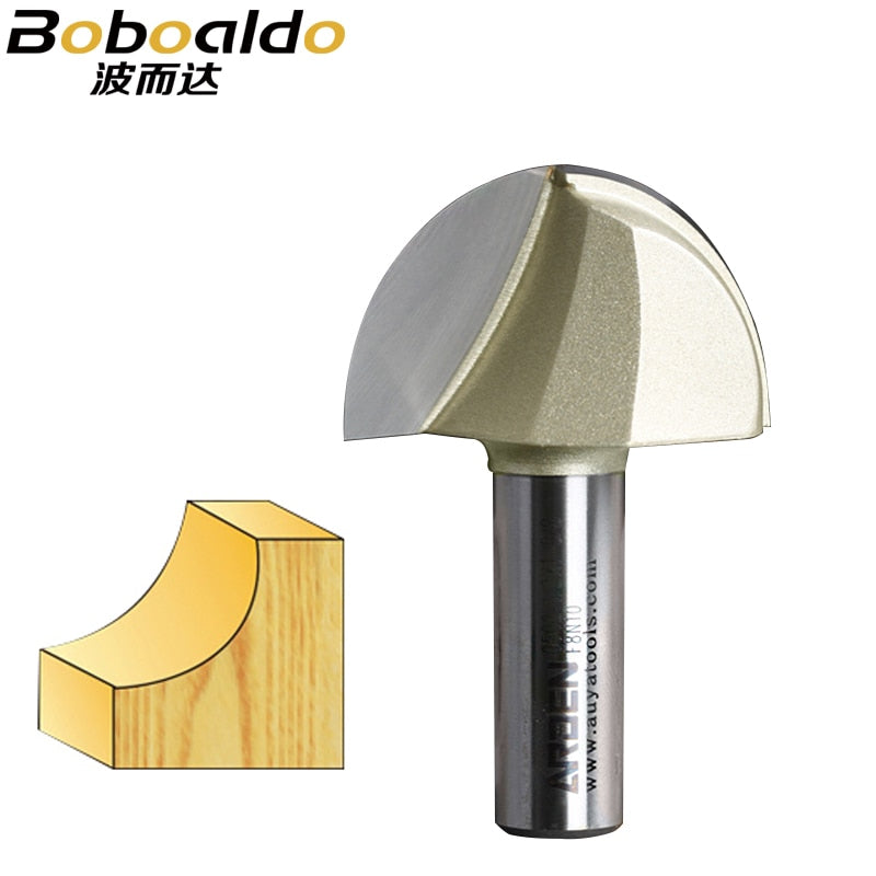 1pc Cemented Tungsten Carbide Round Slot Mill Cutter Core Box Bit Woodwork Tool