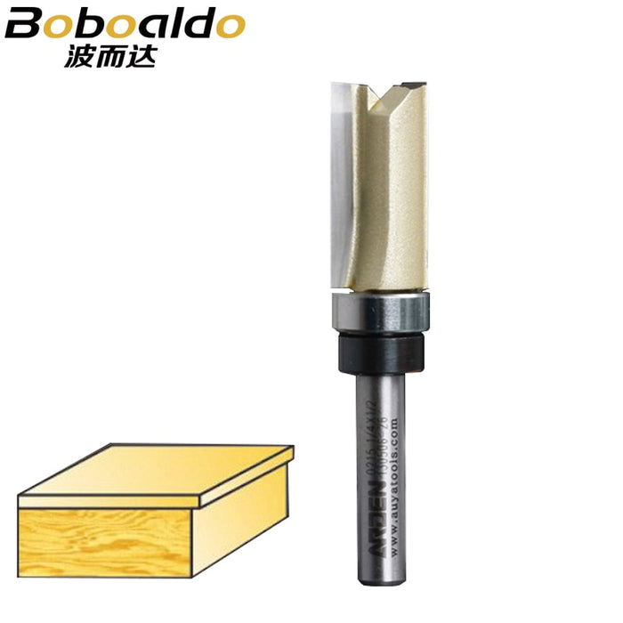 1PCS 1/4 Shank 1/4*1/2 Bearing Flush Trim Router Bit Flush Trim Bits Arden Router Bit Straight Bit Tungsten Milling Cutter