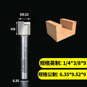 1pcs 2 Flutes 1/4 1/2 Shank Carbide Fipped Bit Bottom Smooth Flat Bottom Cut Cleaning Bits Arden Router Bit Wood Cutting Tool