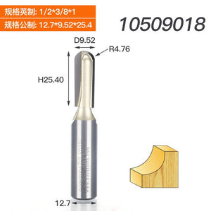 Lengthen deeper grooving Round Nose Grooving Cutter Arden Router Bit Two flute round bottom woodwork tool 1/2 Shank