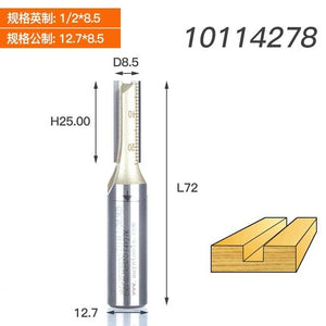 1PCS 1/4 1/2 Shank Two flutes Straight Bits Jointing Grooving Rabbet  endmill milling cutter Arden Router Bit