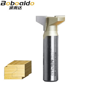 1pcs 1/2 Dovetail Straight T-Slot Arden Router Bit- 1/2*1*25.4mm 2 Flute Trimming Router Bits For Wood Endmill Milling Cutter