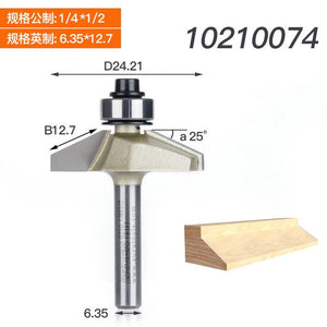 1pc 1/4 1/2 Shank 25Deg Horse Nose Bit Chamfer Cutter With Ball Bearing CNC Router Bits For Wood Double Edging Arden Router Bit