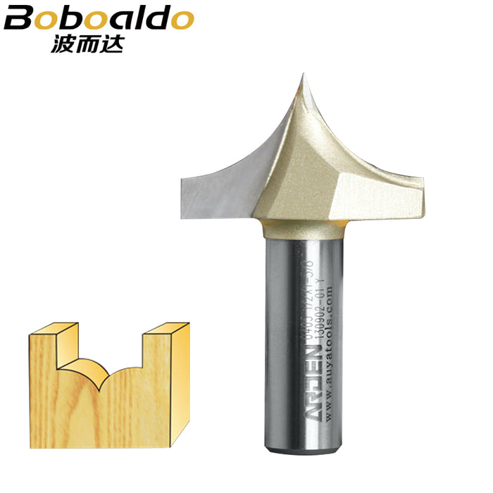 1pcs 1/4 1/2 Shank Woodworking Cutter Double Edging Arden Router Bits for wood carbide Woodworking Engraving Tools carving bit
