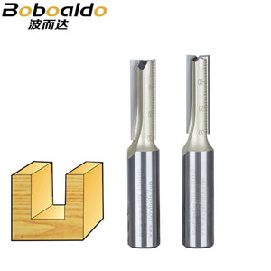 1pcs 1/2 2Flutes Straight Carving Cutter Arden Router Bits Metric Cleaning Bottom Straight Cutter TC With Grinded Bottom Cut