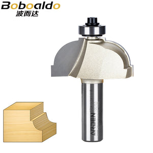 1pcs 1/4 1/2 Cavetto Edge Mold Bits Arden Router Bit Two flute cavetto cutter with exchangeable bearing Step and concave radius