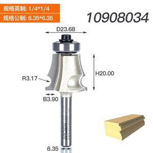 Two Flutes 1/4 1/2 Shank With Bearing Drawing Line Bits Woodworking Tools Two Flute Endmill Milling Cutter Arden Router Bit