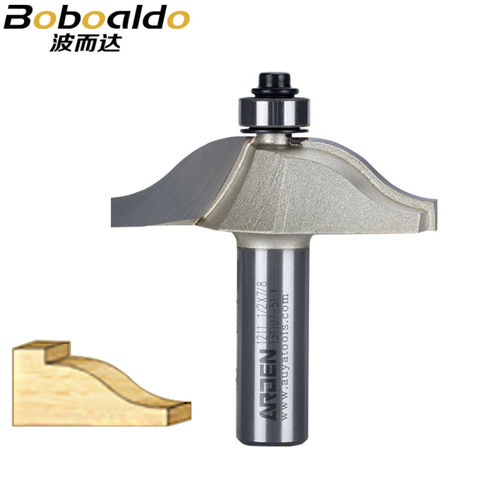 1pcs 1/2 Shank Woodworking Tool Double Roman Ogee Round-Over Arden Router Bit Raised Panel Bits