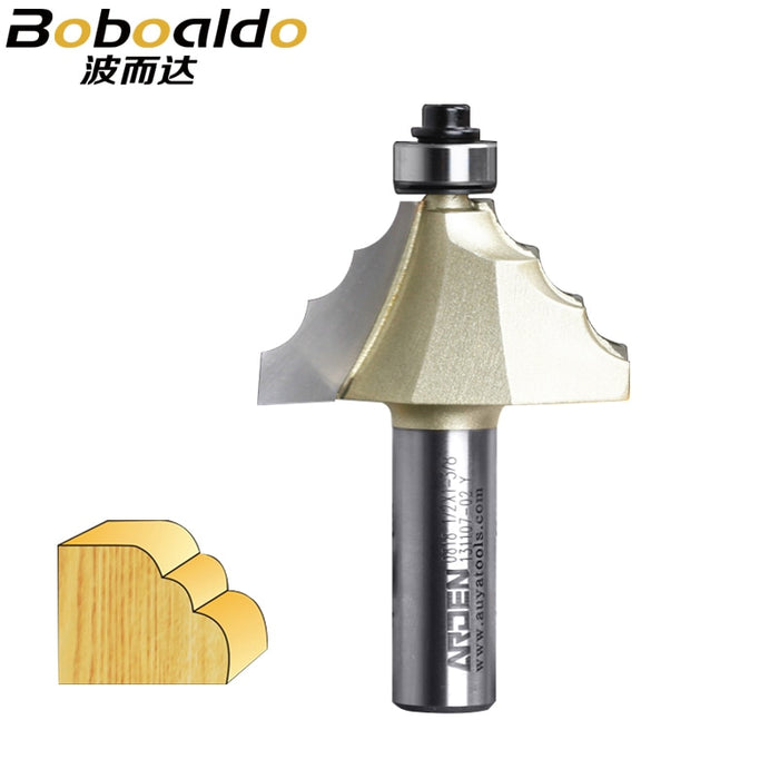 1pcs 1/2 Three Round Cutter With Ball Bearing Specialty Moulding Bits Arden Router Bit Woodworking Tool Classical Moulding Bit