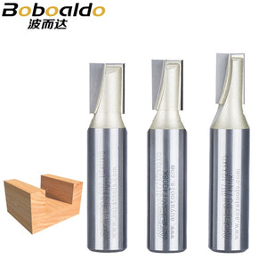 1/4 1/2 Shank Flat leveling Bottom Cut Arden Router Bit Mortising Tungsten Bottom Cleaning Bits End Milling Cutter
