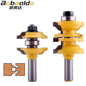 "2pc 1/2"" Shank Entry & Interior Door Ogee Matched R&S Router Bit Set - CHWJW"