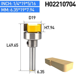 "1pc 1/2"" Shank Woodworking Router Bits Burrs Cutter Wood Milling Cutter CNC Tool Straight Trimming With Bearing"