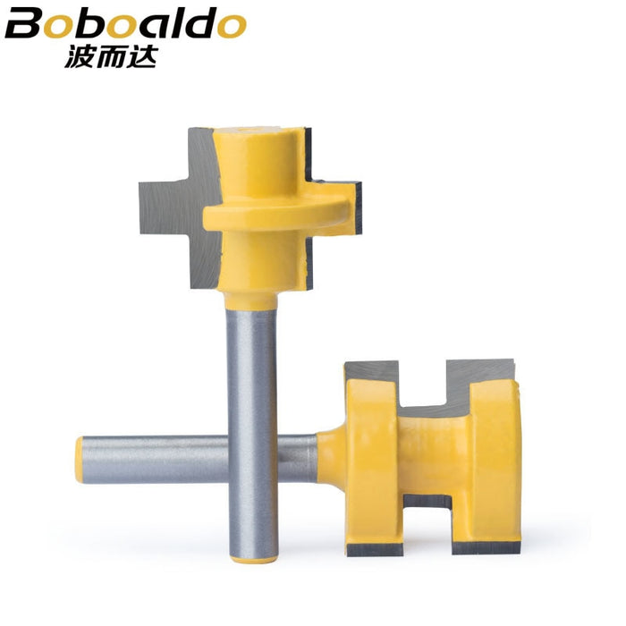 "1pc 1/2"" Shank Router Bits Milling Cutter CNC Tool Trimming Machine Boring Tool Male And Female Hoe Head Square Tooth Bit"