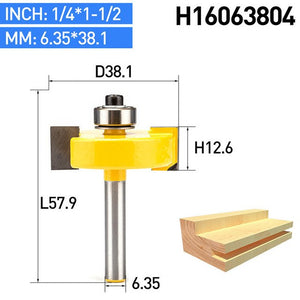 "1pc 1/4"" Shank T Type Woodworking Router Bits Tenon Cutter For Wood Mortising Milling Cutter CNC Joint Combination Bit"