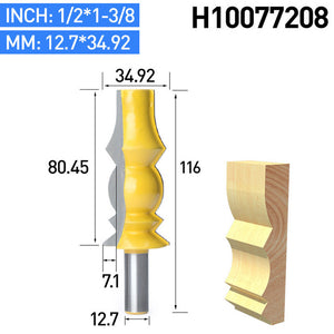 "1pc 1/2"" Shank Woodworking Slotted Trimming Router Bits Milling Cutter CNC Tool  For Wood Mortising Carving Cutter"