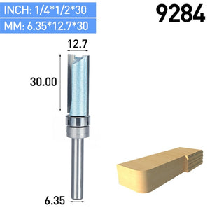 "Boboalda 1pcs Bearing Flush Trim Router Bit for wood 1/2"" 1/4"" Shank straight bit Tungsten Woodworking Milling Cutter Tool"