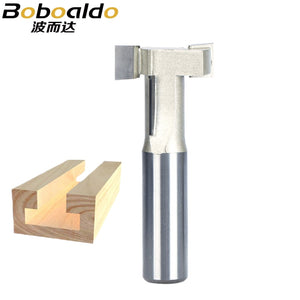 1pc 1/4 1/2 Shank T Type Woodworking Cutter Engraving Edge Trimmer Router Bit Drawer Knife T Type Cutter For Wood