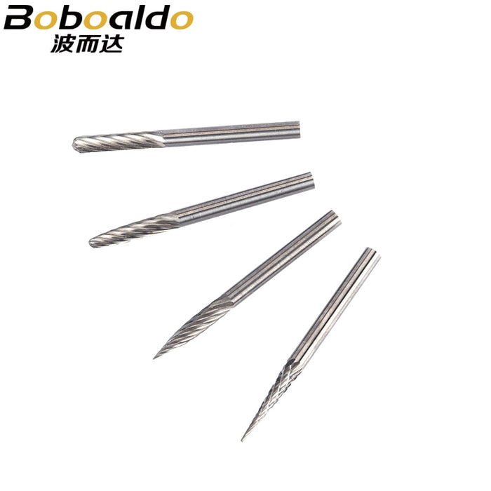 3mm Shank Tungsten Steel Cutter Metal Grinding Carving Rotary File Router Bit Head Grinding Abrasive Burrs Milling Cutter